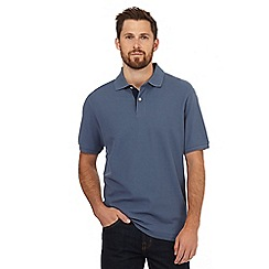Maine New England - Big and tall grey contrast placket polo shirt