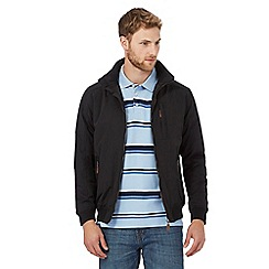 Maine New England - Big and tall black shower resistant blouson jacket