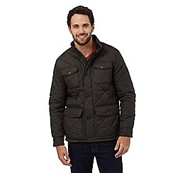 Maine New England - Big and Tall dark brown pocket quilted jacket
