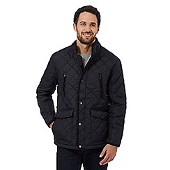 Maine New England - Big and tall navy quilted fleece lined jacket