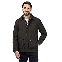Maine New England - Dark green buttoned and zip jacket