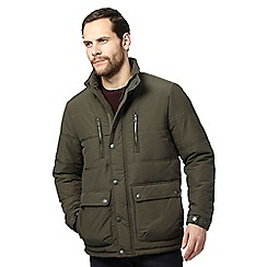 Maine New England - Big and tall dark green quilted coat
