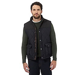 Maine New England - Navy quilted gilet with wool