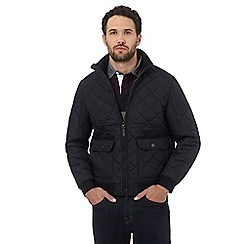Maine New England - Navy quilted square pocket jacket