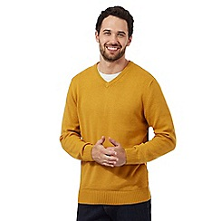 Maine New England - Dark yellow V neck jumper