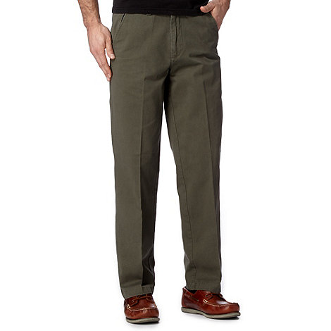 Maine New England - Big and tall olive classic chinos
