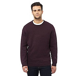 Maine New England - Big and tall purple crew neck jumper