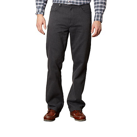 Maine New England - Dark grey bedford straight leg trousers