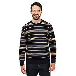 Maine New England - Yellow striped crew neck jumper