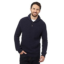 Maine New England - Navy chunky twist jumper