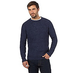 Maine New England - Blue chunky knit crew neck jumper