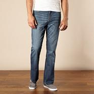 Big and tall blue bootcut jeans