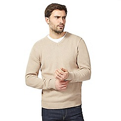 Maine New England - Natural V neck jumper