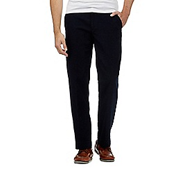 Maine New England - Navy buttoned moleskin trousers