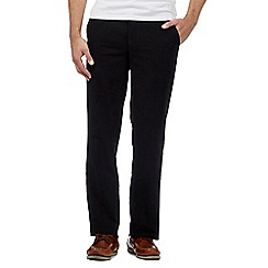 Maine New England - Black buttoned moleskin trousers