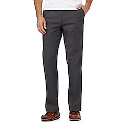 Maine New England - Big and tall dark grey micro dot striped chinos