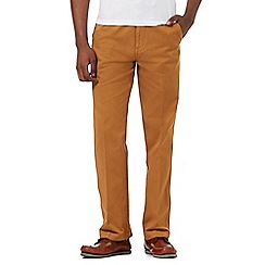 Maine New England - Dark yellow flexible waistband tailored fit chinos