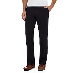 Maine New England - Big and tall navy flexible waist tailored fit chinos