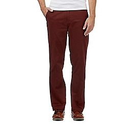 Maine New England - Big and tall brown pure cotton chinos