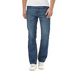 Maine New England - Big and tall blue mid wash straight fit jeans