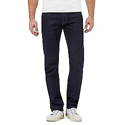 Maine New England - Big and tall dark blue rinse slim fit jeans