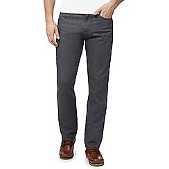 Maine New England - Big and tall grey rinse wash straight fit jeans
