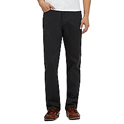 Maine New England - Grey bedford texture trousers