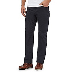 Maine New England - Big and tall navy pindot five pocket trousers