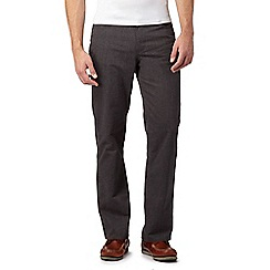 Maine New England - Grey herringbone tailored fit trousers