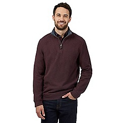 Maine New England - Red ribbed sweater