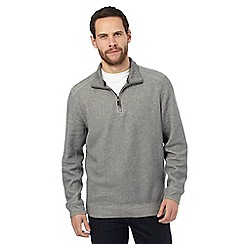 Maine New England - Grey ribbed jumper
