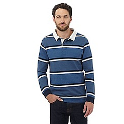 Maine New England - Blue highlight striped rugby shirt