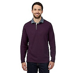 Maine New England - Purple long sleeved polo shirt