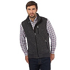Maine New England - Dark grey knit effect gilet
