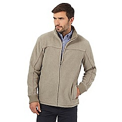 Maine New England - Big and tall beige zip through jacket