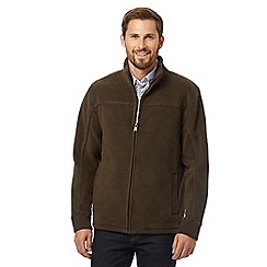 Maine New England - Big and tall dark brown zip through jacket