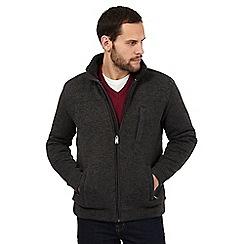 Maine New England - Big and tall grey borg lined fleece