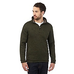 Maine New England - Dark green funnel neck sweater