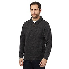 Maine New England - Dark grey shawl neck sweater