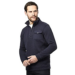 Maine New England - Big and tall navy pocket funnel neck sweater
