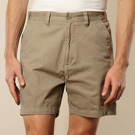 Maine New England - Flexi waist Light olive casual twill shorts