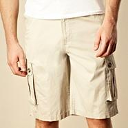 Big and tall natural six pocket cargo shorts