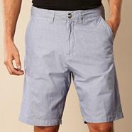 Big and tall navy dogtooth chino shorts