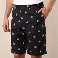 Big and tall  boat print chino short