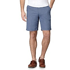 Maine New England - Blue dotted print chino shorts