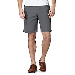 Maine New England - Dark grey textured chino shorts