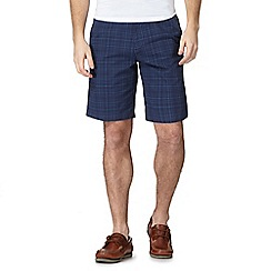 Maine New England - Blue check print chino shorts