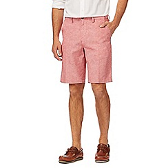 Maine New England - Big and tall red linen blend chino shorts