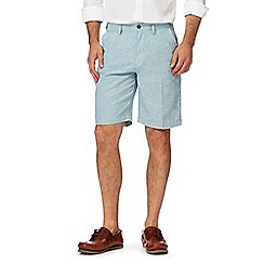 Maine New England - Light blue linen blend chino shorts