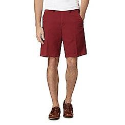 Maine New England - Big and tall dark red chino shorts